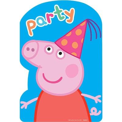 Birthday Express Peppa Pig Invitations - 8 Pack