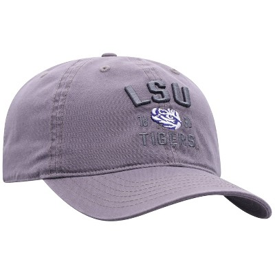NCAA LSU Tigers Men's Skill Gray Garment Washed Canvas Hat