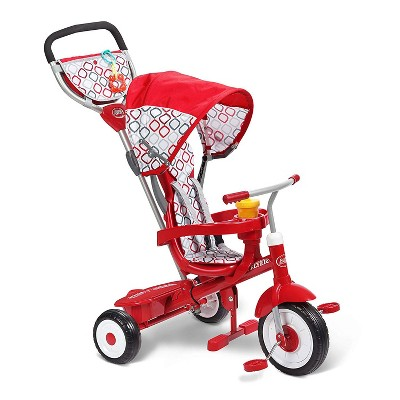 Radio Flyer Ultimate 4-in-1 Stroll 'N Trike Ride On with 3-Point Harness, Red