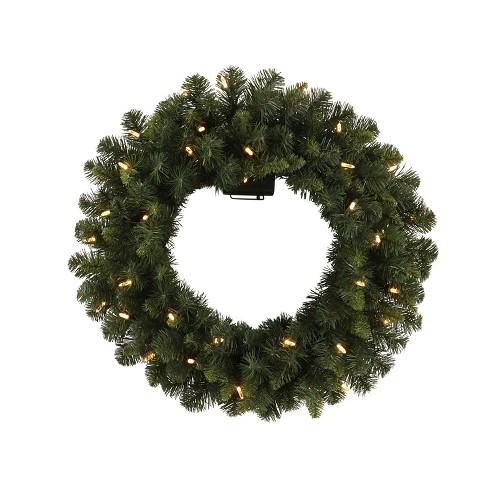 philips 28 christmas prelit artificial pine christmas wreath bicolor led lights target