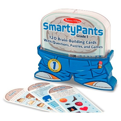 Melissa & Doug® Smarty Pants 1st Grade Card Set - 120 Educational, Brain-Building Questions, Puzzles, and Games
