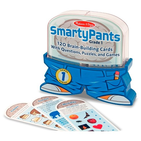 Melissa & Doug® Smarty Pants 1st Grade Card Set - 120 Educational, Brain-Building Questions, Puzzles, and Games - image 1 of 3