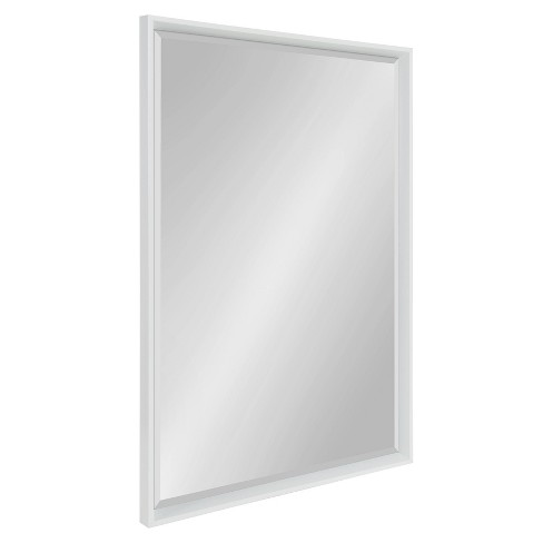 "25.5""x37.5"" Calter Framed Wall Mirror White - Kate and Laurel - image 1 of 4"
