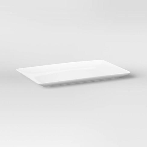 """15.2"""" x 9.6"""" Porcelain Rectangular Platter White - Threshold™ - image 1 of 3"""