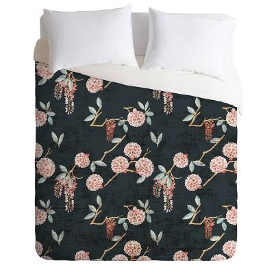 Holli Zollinger Floralista Comforter Set Green - Deny Designs