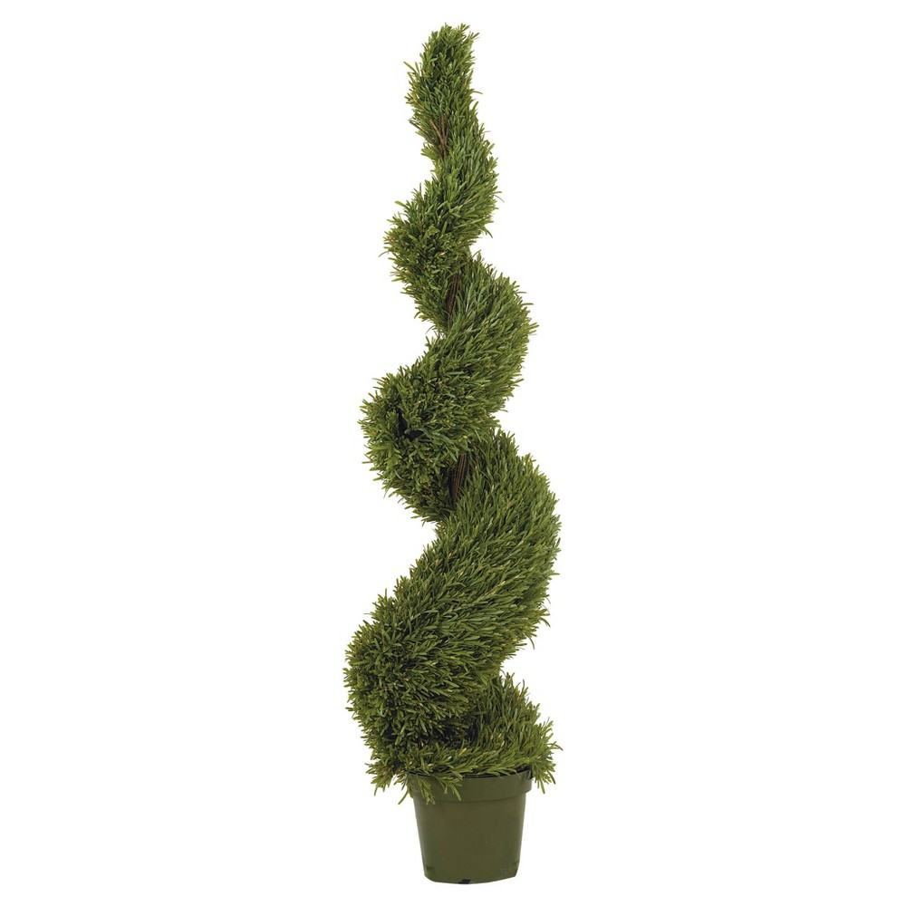 Image of Artificial 5ft Rosemary Spiral Silk Tree Indoor/Outdoor - Nearly Natural