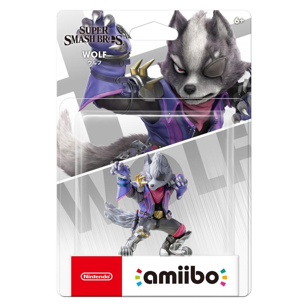 Nintendo Super Smash Bros. amiibo Figure - Wolf, Multi-Colored