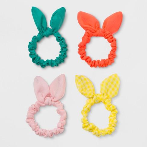 Toddler Girls  4pk Bow Hair Ties - Cat   Jack™ Pink Orange Yellow   Target dd09c18ce82