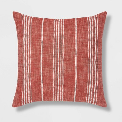 Oversized Woven Textured Striped Square Throw Pillow - Threshold™