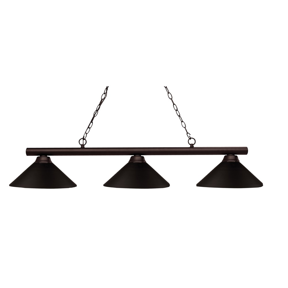 Billiard Ceiling Lights with Bronze Glass (Set of 3) - Z-Lite