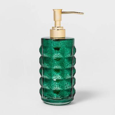 Indo Chic Mercury Glass Soap/Lotion Dispenser Green - Opalhouse™