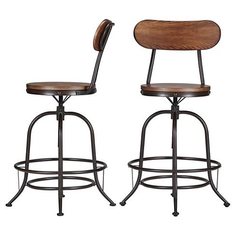 Peachy Mason Adjustable Swivel Barstool Set Of 2 Inspire Q Uwap Interior Chair Design Uwaporg