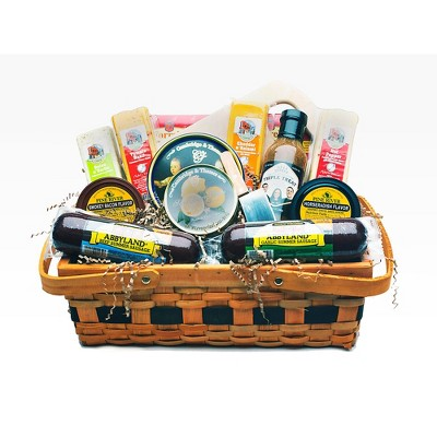 Northlight 14pc Picnic Party Gourmet Summer Sausage and Cheese Gift Basket - Large