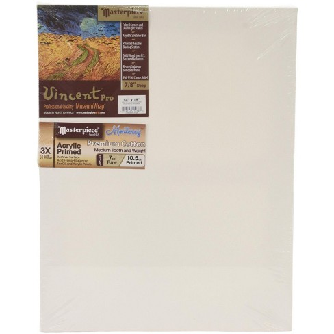 Masterpiece Vincent MasterWrap Pro MuseumWrap Wood Drum Tight Stretched Canvas, 14 X 18 in - image 1 of 5