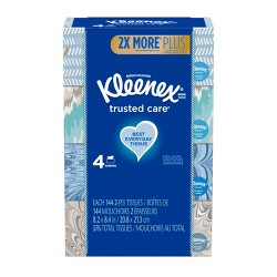 Kleenex Trusted Care Facial Tissue - 4pk/144ct
