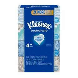Kleenex Trusted Care Facial Tissue - 4pk/144ct