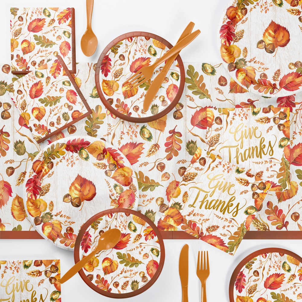 Fall Give Thanks Thanksgiving Party Supplies Kit