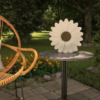"""Cosco 12"""" Resin Outdoor Chrysanthemum Light Sculpture"""