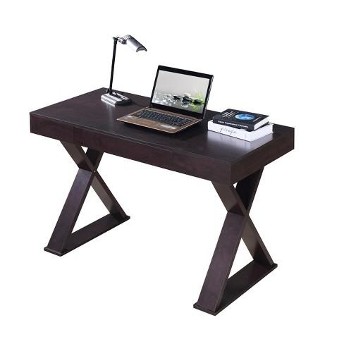 Trendy Desk with Drawer Espresso - Techni Mobili - image 1 of 4