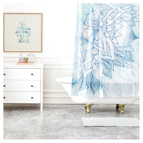 Rosebudstudio Lovely Soul Shower Curtain Blue - Deny Designs - image 1 of 4