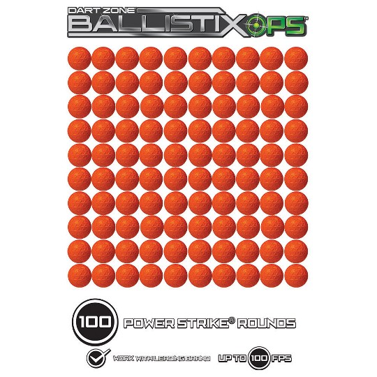Dart Zone BallistixOps 100-Round Power Strike Ammo Refill image number null