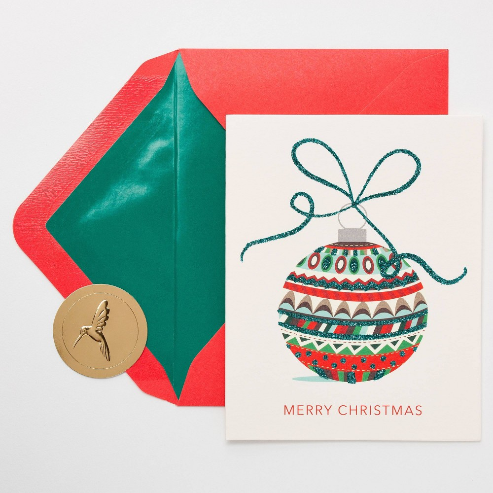 Image of 10ct Papyrus Merry Christmas Ornament Greeting Cards