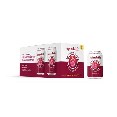 Spindrift Cranberry/Raspberry Sparkling Water - 8pk/12 fl oz Cans