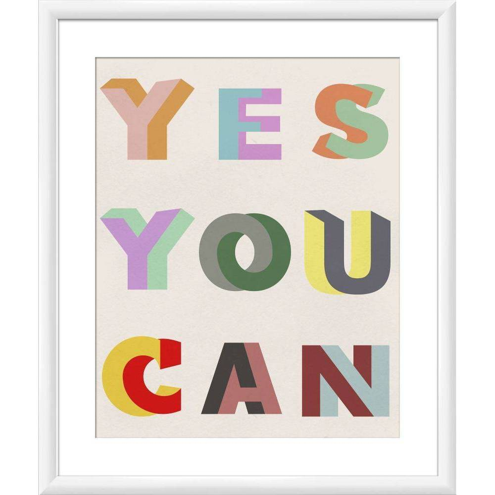 "Image of ""18"""" x 22"""" """"Yes You Can"""" Wall Art - PTM Images"""