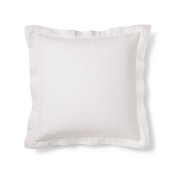 White Matelasse Euro Pillow - Fieldcrest®