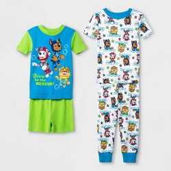Toddler Boys' 4pc 100% Cotton PAW Patrol Pajama Set - Green
