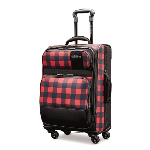 "American Tourister Kickster 21"" Carry On Suitcase - Plaid - image 1 of 13"