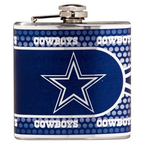NFL Dallas Cowboys Metallic Flask   Target 919605089