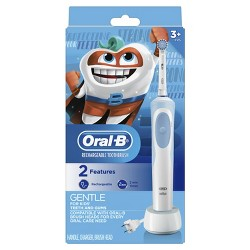 Oral-B Powered by Braun Electric Toothbrush with Sensitive Brush Head and Timer For Kids 3+