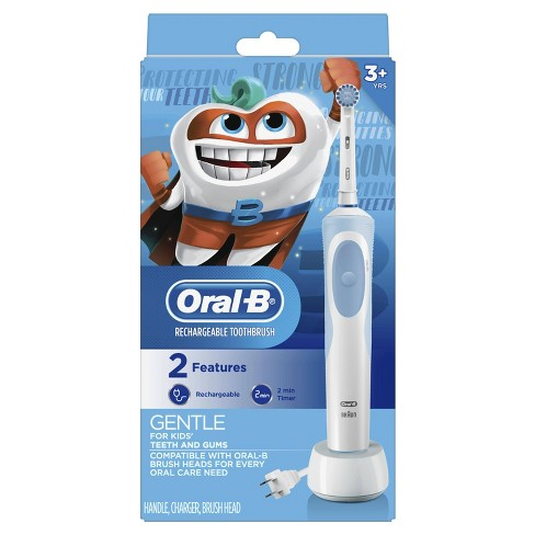 Oral-B Powered by Braun Electric Toothbrush with Sensitive Brush Head and Timer For Kids 3+ - image 1 of 6