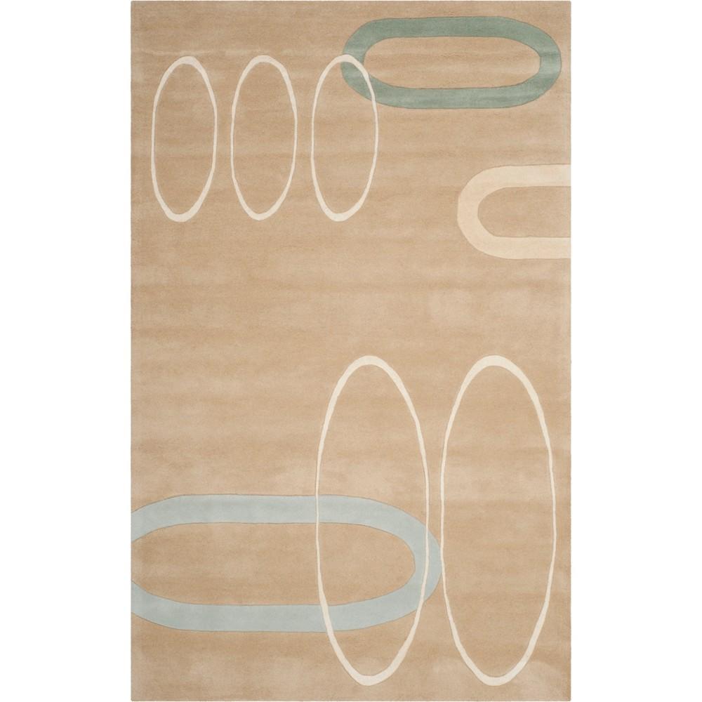 5'X8' Shapes Tufted Area Rug Beige/Light Gray - Safavieh