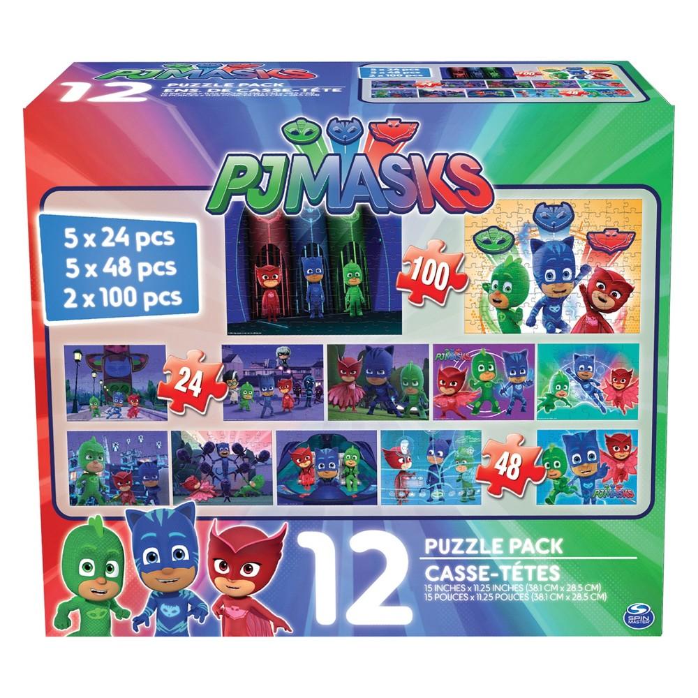 PJ Masks 12pk Puzzle, Jigsaw Puzzles