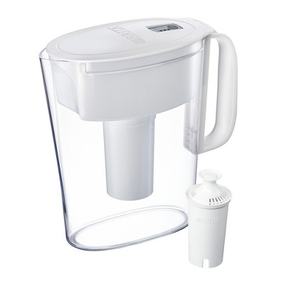 Brita Small 5 Cup BPA Free Water Filter Pitcher with 1 Standard Filter - White