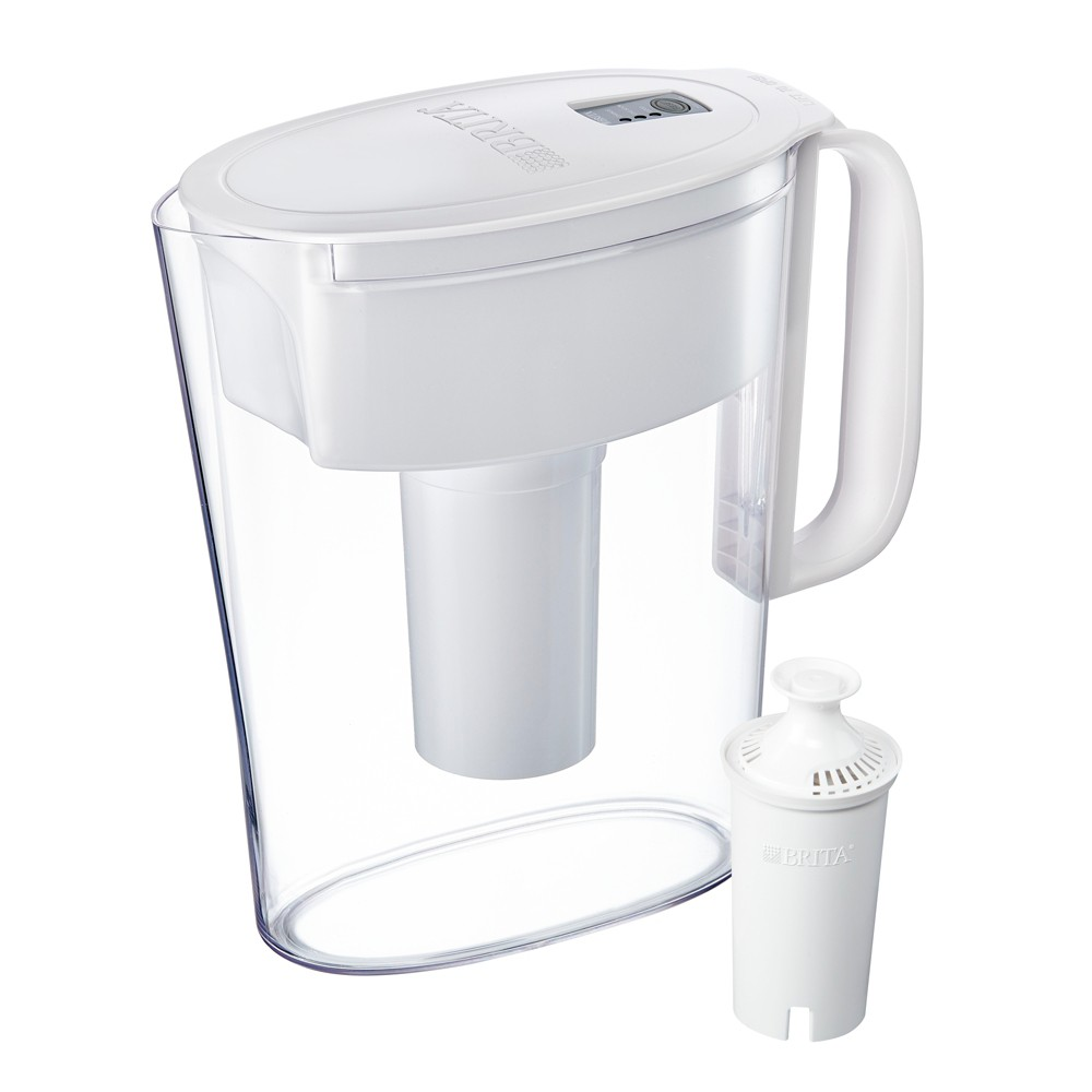 Image of Brita Small 5 Cup BPA Free Water Filter Pitcher with 1 Standard Filter - White
