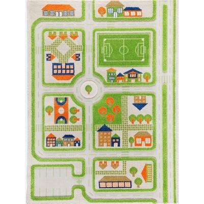 IVI World 3D Play Carpet 71 x 52.5-inch Educational Green Traffic Soft Floor Rug Mat for Bedroom, Kids Den, or Playroom, Large
