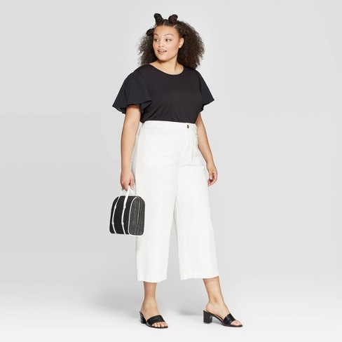 b4566c447e7e09 Women's Plus Size Puff Short Sleeve Scoop Neck Top - Who What Wear™. Shop  all Who What Wear