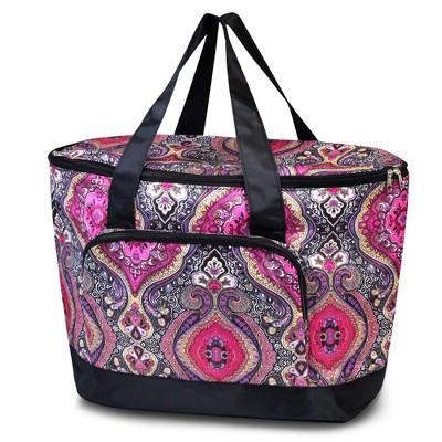 Zodaca Women Large Leak Resistant Cooler Bag Tote Carry Bag for Park Beach Picnic Camping