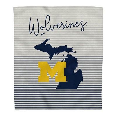NCAA Michigan Wolverines Ultra Fleece State Stripe Blanket