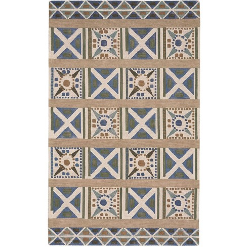 5 X8 Rectangle Wool Area Rug Green Capel Target