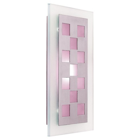 Aquarius LED Wall Sconce with Frosted Glass Shade - Brushed Steel - image 1 of 1