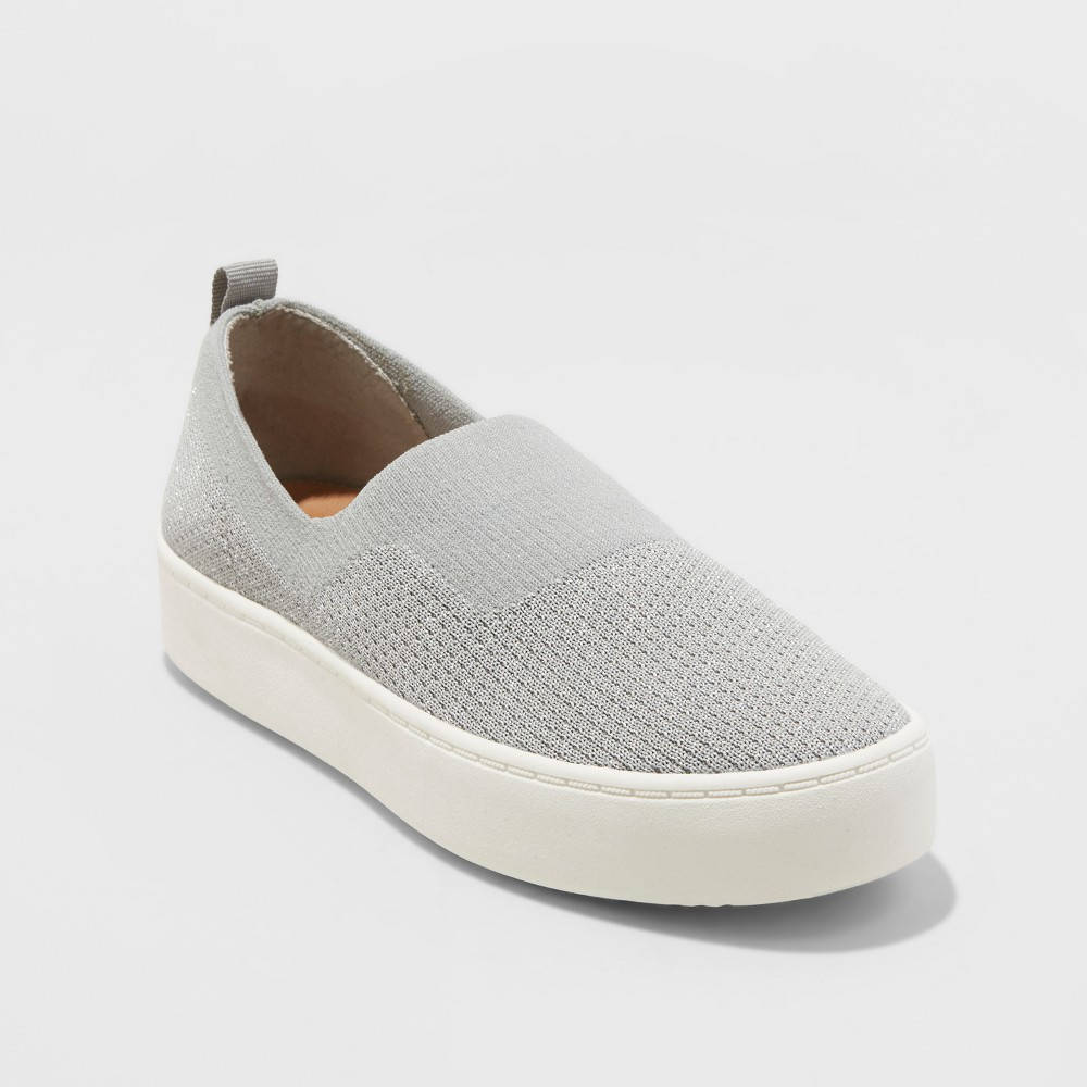Women's dv Shyanne Stretch Slip On Knit Sneakers - Gray 8