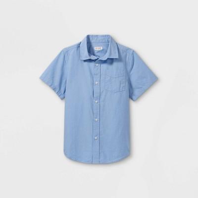 Boys' Oxford Short Sleeve Button-Down Shirt - Cat & Jack™ White