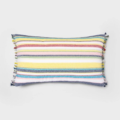 Oversized Lumbar Woven Multi Stripe Pillow - Threshold™