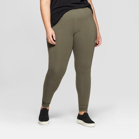 3cd45c5a742 Women s Plus Size Ankle Length Leggings - Ava   Viv™ Olive 3X   Target
