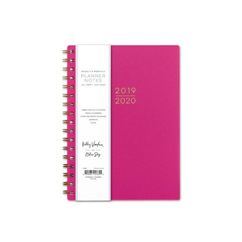 """2019-2020 Academic Planner 6""""x 8"""" Flexible Cover Pink - Kelly Ventura for Blue Sky - image 1 of 5"""