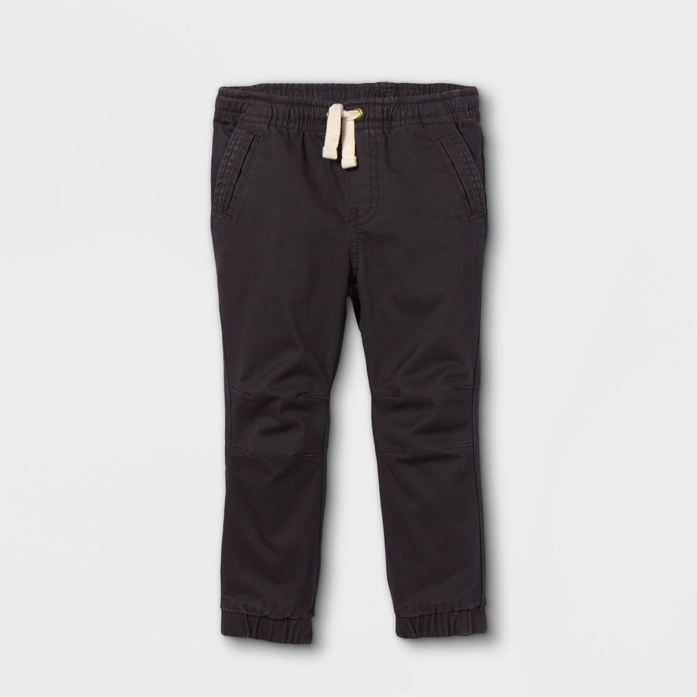 Toddler Boys 39 Knit 38 Woven Pull On Jogger Chino Pants Cat 38 Jack 8482 Charcoal Gray 4t